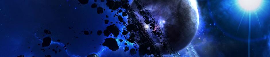 Konzept Blauer Planet