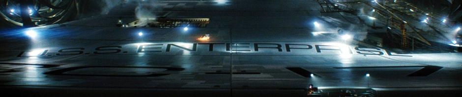 U.S.S. Enterprise im Erd-Trockendock